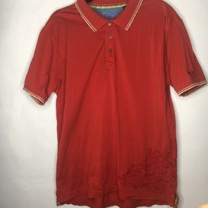 Robert Graham polo embroidered men's XL red